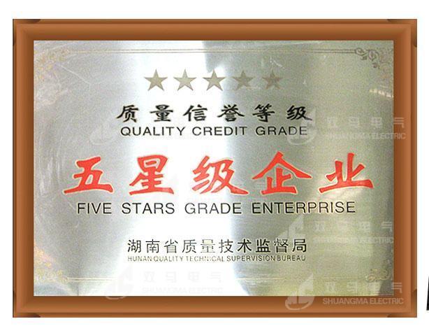 湖南省质量五星级企业
