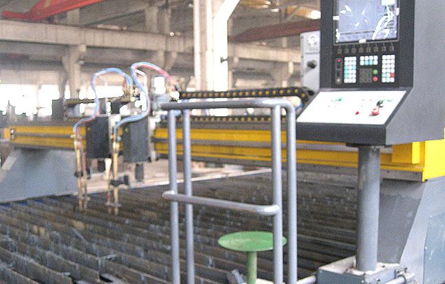 上海沪工10*7米二割嘴龙门切割机